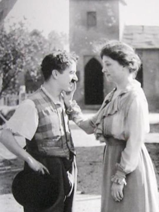 Charles Chaplin y Helen Keller en 1916